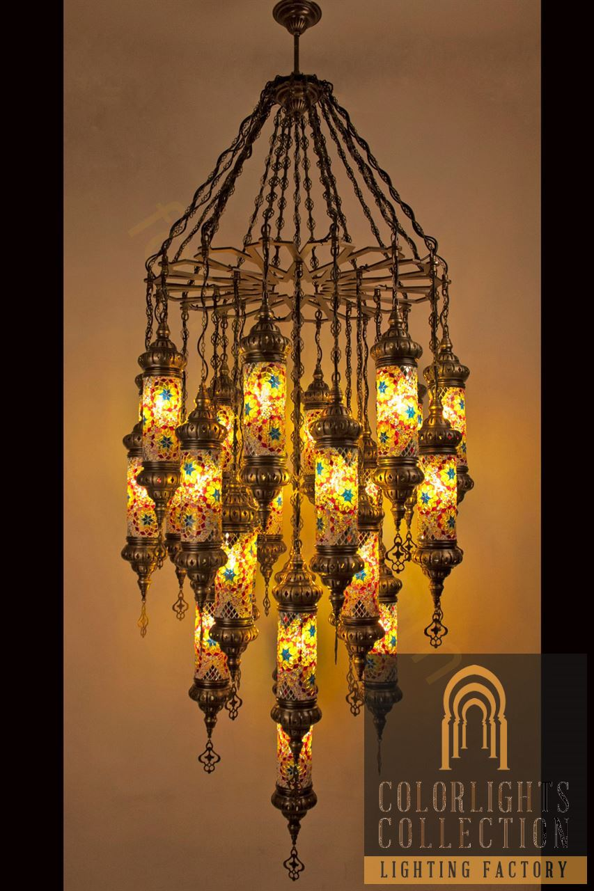Mosaic lamps ottoman lamps turkish lighting manufacturermosaic picture of mosaic chandeliers aloadofball Images
