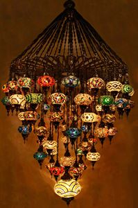 Mosaic lamps ottoman lamps turkish lighting manufactureryou are mosaic chandeliers aloadofball Image collections